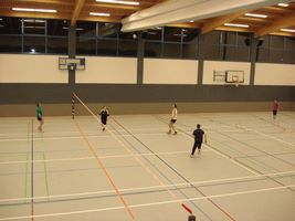 Training in der Ballspielhalle